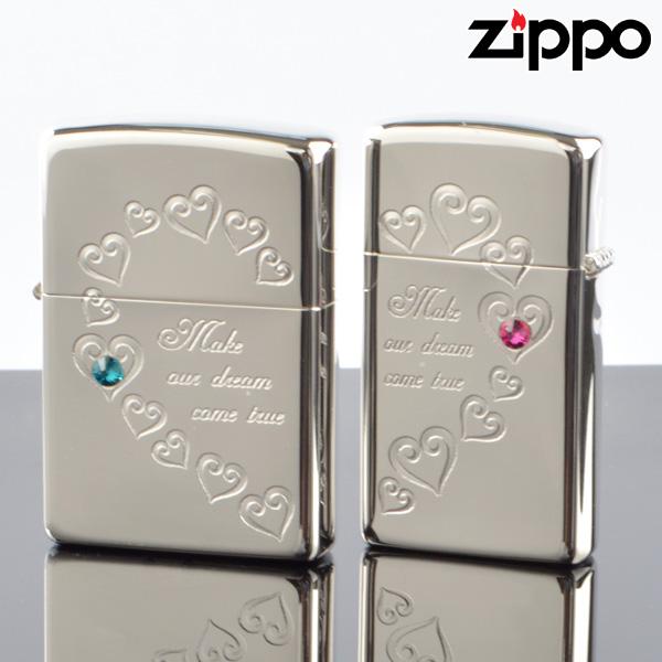 【y送料無料】ZIPPOペア#200 #1600 ハートフルペア 銀ミラー HFPR-ASP スワロ付 ジッポーライター 【新品・正規品】 【】