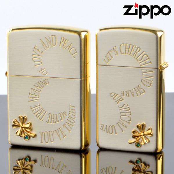 【y送料無料】ZIPPOペア#200 #1600 クローバーペア CRPR-SG SGサテーナ メタル貼り ジッポーライター 【新品・正規品】 【】