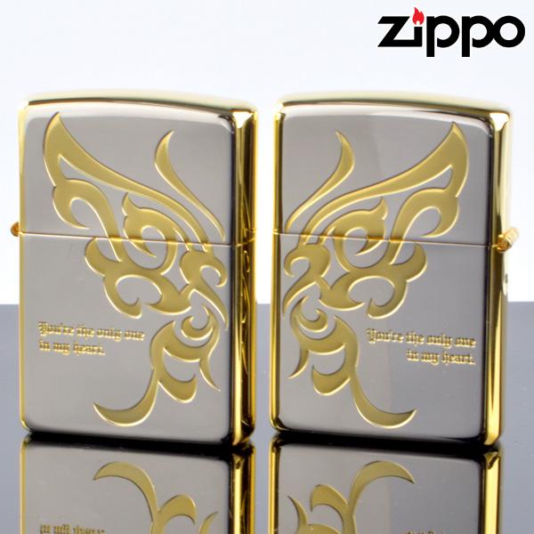 【y送料無料】ZIPPOペア#200 #200 LAバタフライ LAPR-SGP SGミラー ジッポーライター 【新品・正規品】 【】