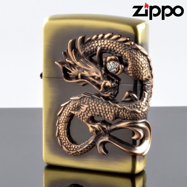 【y送料無料】 ZIPPO#200 龍サイドメタル 真鍮古美 ds-bs (10020055) ジッポーライター 【新品・正規品】 【】