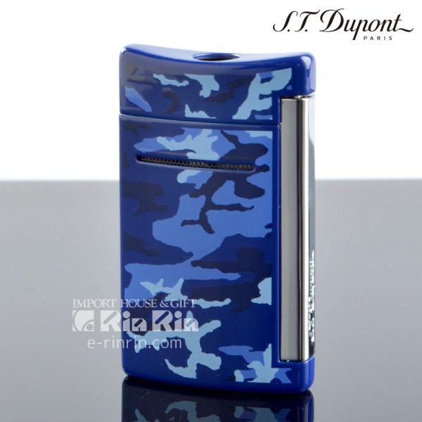 【送料無料】デュポン 10088 ミニ・ジェット(X・tend mini) Minijet ブルー カモフラージュラッカー クロム デュポンライター (Dupont) ターボライター 【新品・正規品】 【】