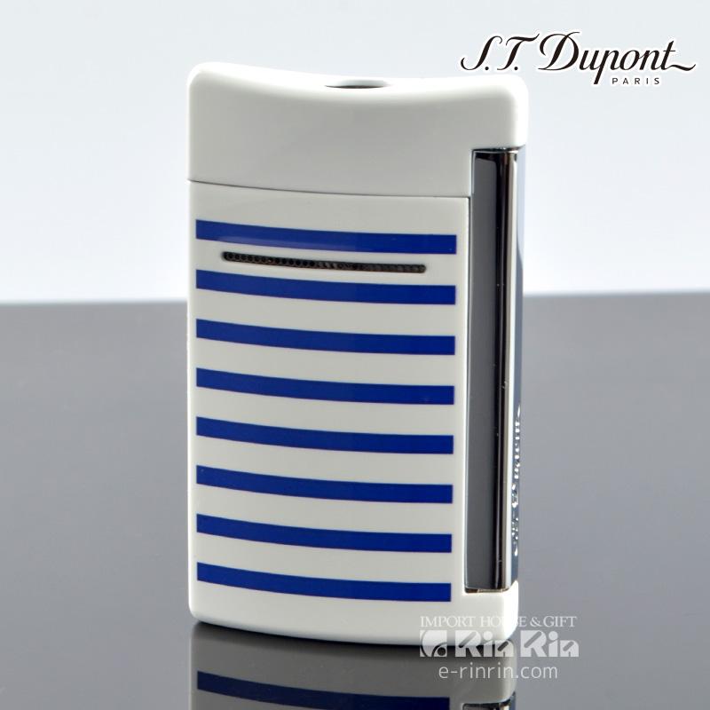 デュポン 10106 ミニ・ジェット(X・tend mini) Minijet ボーダーコレクション ホワイトラッカー ブルーストライプ デュポンライター (Dupont) ターボライター 【新品・正規品・送料無料】新生活 ギフト 【】