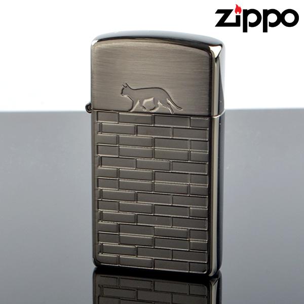 Zippo ジッポライター 16bn-catw CAT WALKS キャットウォーク#1600 ブラックニッケル古美エッチング オイルライター 【新品・正規品・送料無料】 ギフト 【】