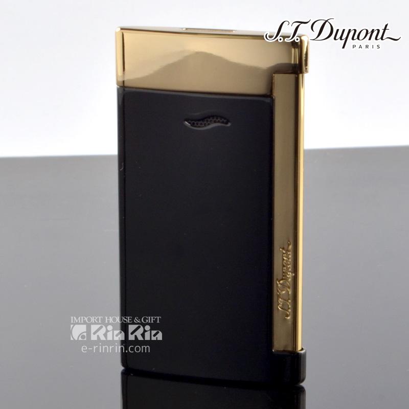 【送料無料】デュポン スリム7 SLIM7 27708 ブラック イエローゴールド slim7 デュポンライター[Dupont] ブランド ライター ターボライター【新品・正規品】 【】