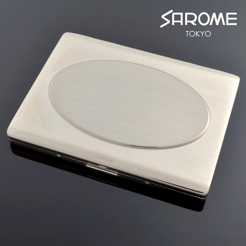 サロメ コンパクトミラー付き シガレットケース FEX-CC5S シルバー sarome ブランド シガーケース fex-cc5s【新品・正規品・送料無料】 ギフト 【】