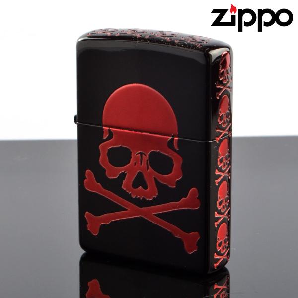 Zippo ジッポライター zp252007 Skull V スカルRD zp252007 5面エッチング加工 マットブラック【新品・正規品・送料無料】 ギフト 【】
