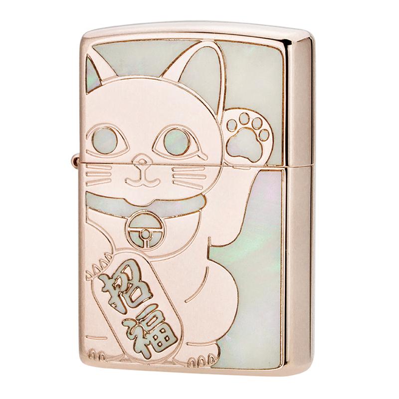 【f送料無料】ZIPPO ラッキーキャットRPK 招き猫 両面加工 FCZP 1201s687 【新品・正規品】 【】
