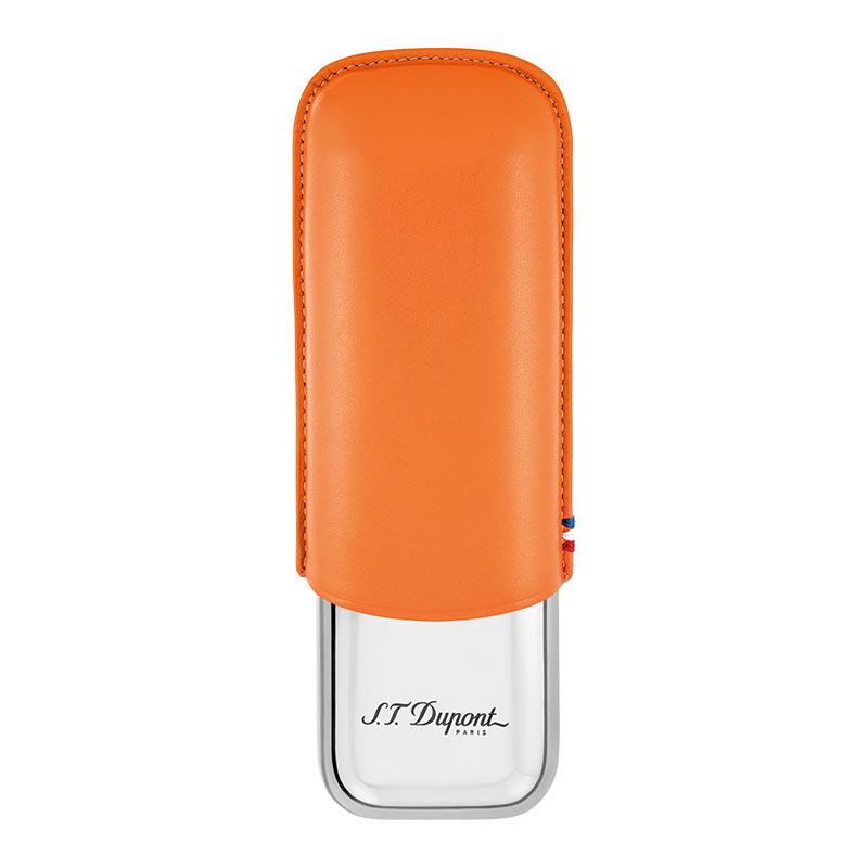 【送料無料】デュポン シガーケース2本 オレンジ 183012