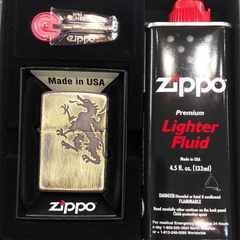 【m送料無料】ZIPPO Bドラゴン arb-bd125 フリントオイルセット