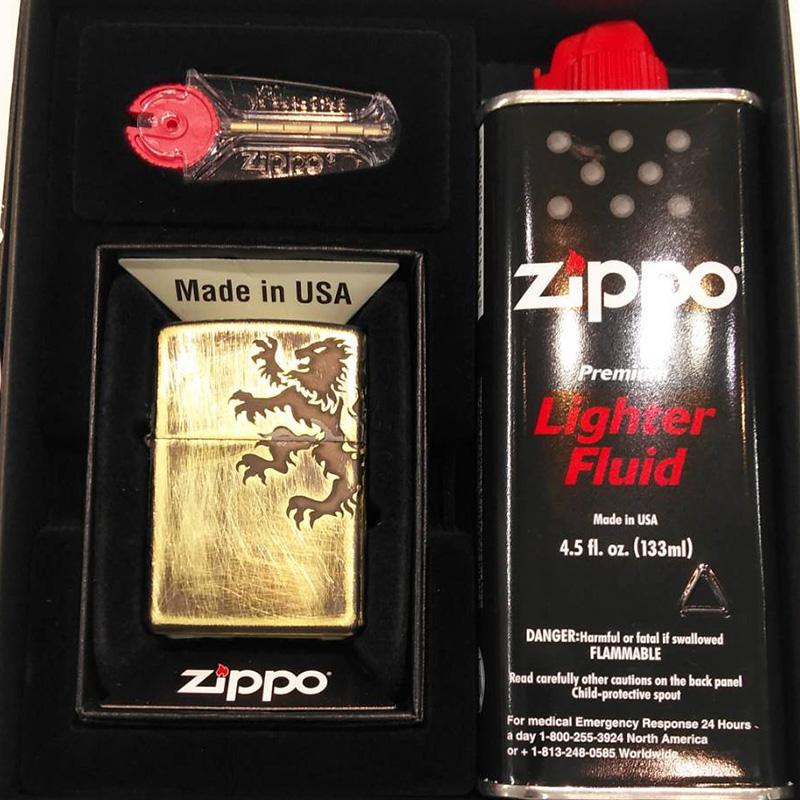 ZIPPO Bライオン arb-br126 フリントオイルセット【新品・正規品・送料無料】 ギフト 【】