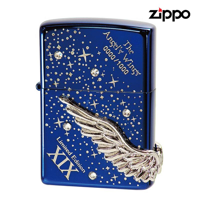 ZIPPO #200 イオンラピスブルー エンジェルウィング PAW-119BLS 限定1000個 【送料無料・新品・正規品】