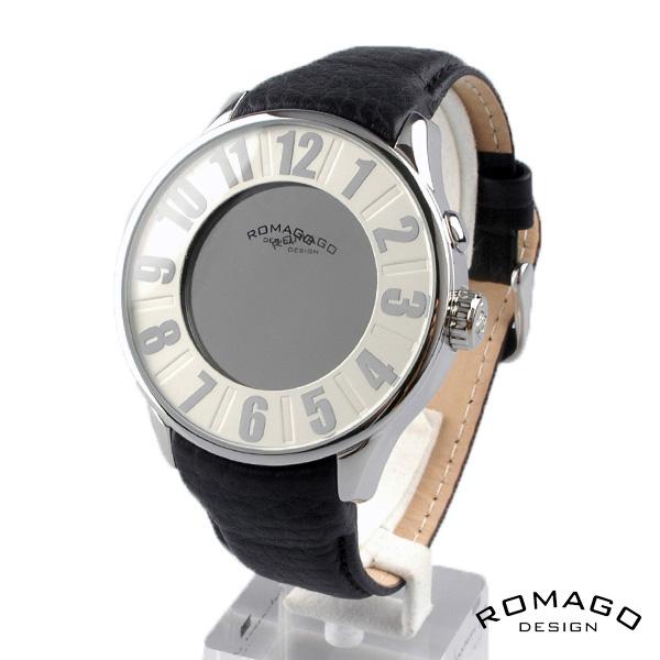 ROMAGO DESIGN ロマゴデザイン腕時計   ミラー文字盤 クォーツ 腕時計 rm007-0053st-sv RM007-0053ST-SV