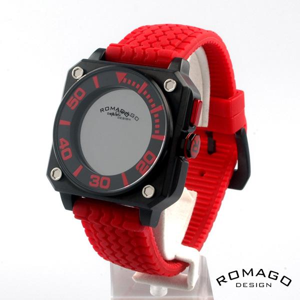 ROMAGO DESIGN ロマゴデザイン腕時計   ミラー文字盤 クォーツ 腕時計 rm018-0073pl-rd RM018-0073PL-RD