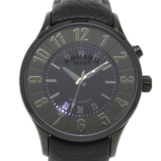 ROMAGO DESIGN[ロマゴデザイン] RM068-0053ST-BK Numeration series ミラー文字盤 クォーツ 腕時計 ブランド ファッション 腕時計 【新品・正規品・送料無料】 ギフト 【】