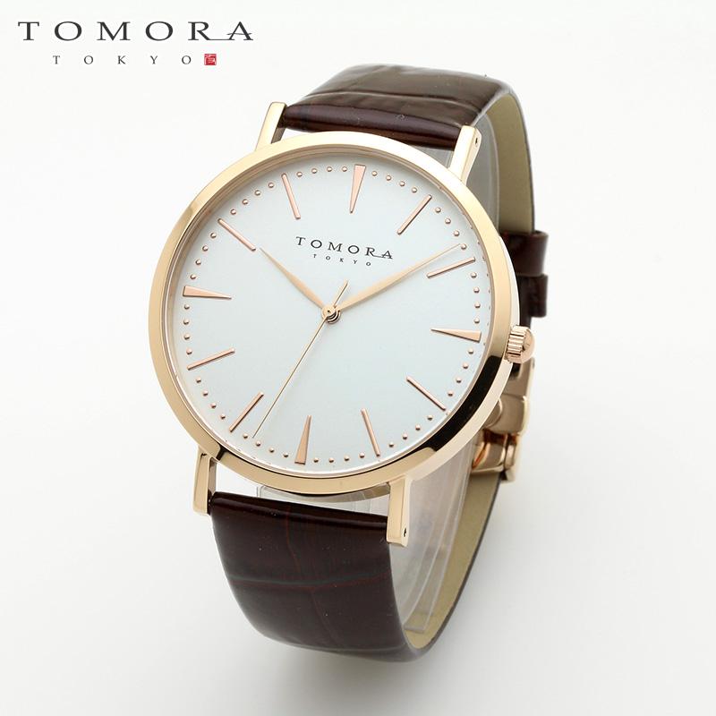 【a送料無料】TOMORA TOKYO t-1601-pwhbr 日本製クォーツ腕時計 T-1601 PWHBR 【新品・正規品・送料無料】 ギフト 【】