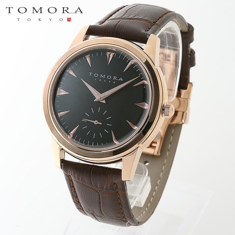 【a送料無料】TOMORA TOKYO t-1602-pgbk 日本製クォーツ スモールセコンド腕時計 T-1602 PGBK 【新品・正規品・送料無料】 ギフト 【】