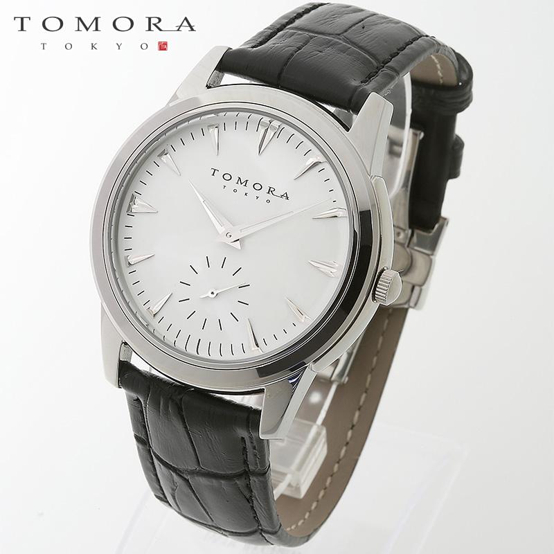 【a送料無料】TOMORA TOKYO t-1602-sswh 日本製クォーツ スモールセコンド腕時計 T-1602 SSWH 【新品・正規品・送料無料】 ギフト 【】