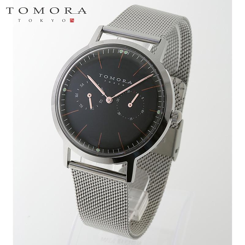 【a送料無料】TOMORA TOKYO t-1603-pbk 日本製クォーツ 日付・曜日カレンダー付き 腕時計 T-1603 PBK 【新品・正規品・送料無料】 ギフト 【】