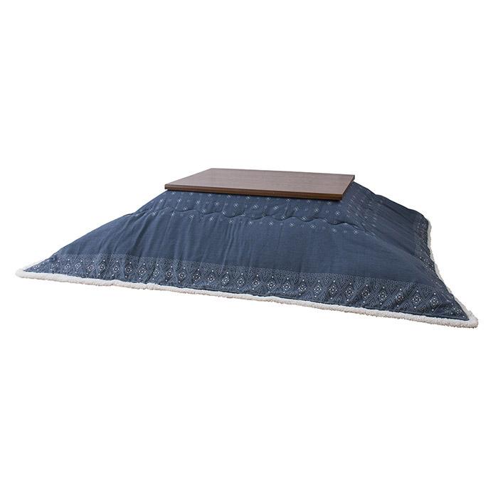 コタツ布団 長方形 ポリエステル&アクリル製 幅185×奥行225cm 天板サイズ120×80cm以下 e-room
