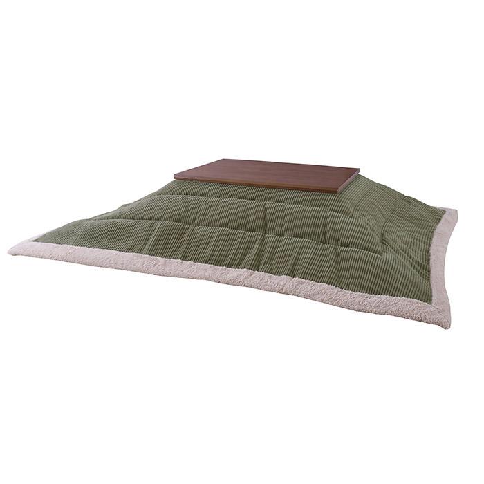 薄掛けコタツ布団 ポリエステル製 幅190×奥行230cm 天板サイズ120×80cm以下