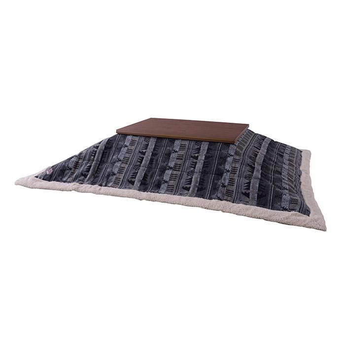 薄掛けコタツ布団 ポリエステル&アクリル製 幅190×奥行230cm 天板サイズ120×80cm以下 e-room