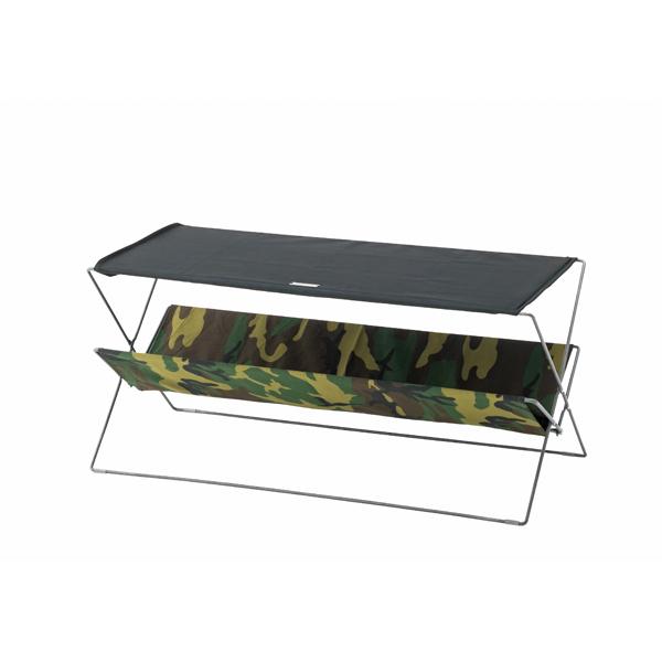 【20%OFF】フォールディングテーブル スチール×コットン×ポリエステル 幅90×奥行41×高さ42cm 折りたたみ テーブル アウトドア ガーデンテーブル 撥水 コンパクト キャンプ おしゃれ