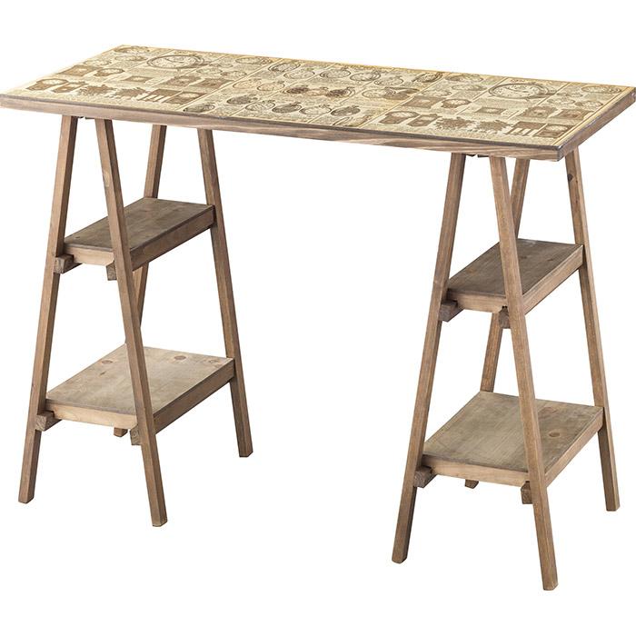 デスク 天然杉 幅92×奥行42×高さ69.5cm 机 おしゃれ オフィスデスク テーブル コーヒーテーブル e-room