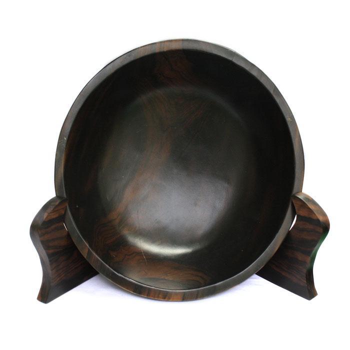【展示品、現品限りの特別価格】高級天然木 黒檀 皿置物 2 立て タテ 置物 インテリア オブジェ 手彫り e-room