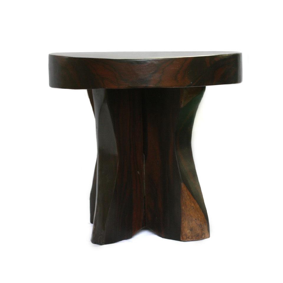 【展示品、現品限りの特別価格】高級天然木 黒檀 腰掛け 置物 インテリア オブジェ イス チェア