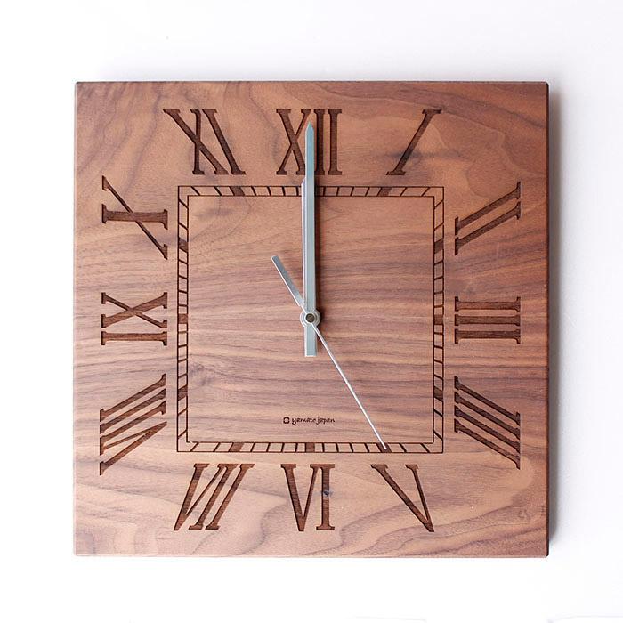 ヤマト工芸 MUKU スタンダード ローマ数字 ウォールナットYK14-101 壁掛け時計 シンプル モダン おしゃれ かわいい 掛け時計 掛時計 ウォールクロック 時計 日本製 e-room