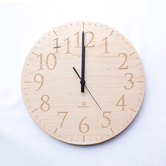 ヤマト工芸 MUKU エン メープル YK15-102 壁掛け時計 シンプル モダン おしゃれ かわいい 掛け時計 掛時計 ウォールクロック 時計 日本製 e-room