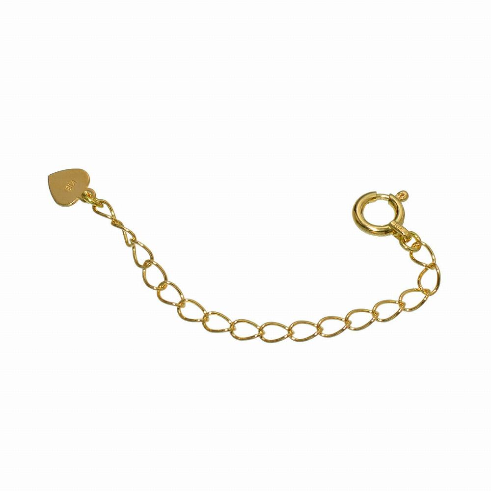 日本製の18金無垢ネックレス用アジャスター ネックレス用アジャスター ハート 18金 イエローゴールド 幅2.1mm 長さ5cm|鎖 K18YG 18k 貴金属 ジュエリー レディース メンズ