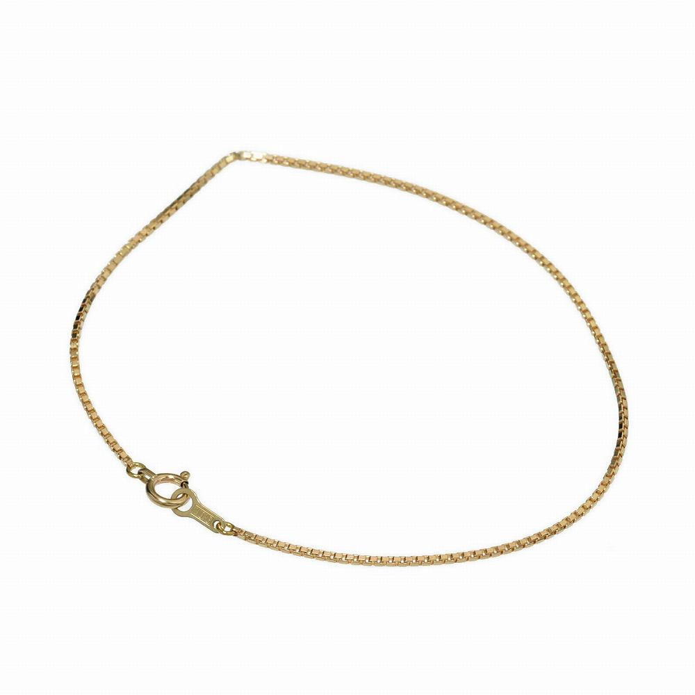 ブレスレット チェーン 10金 イエローゴールド ベネチアンチェーン 幅1.0mm 長さ15cm|鎖 K10YG 10k 貴金属 ジュエリー レディース メンズ