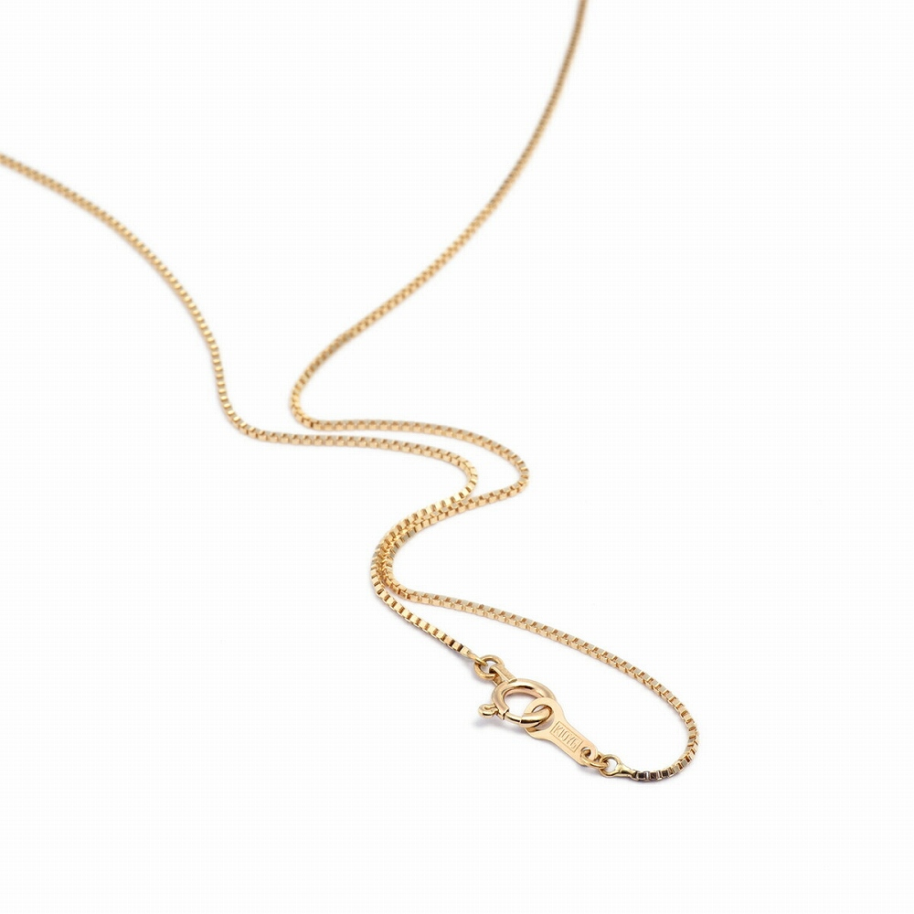 ネックレス チェーン 10金 イエローゴールド ベネチアンチェーン 幅0.7mm 長さ38cm|鎖 K10YG 10k 貴金属 ジュエリー レディース メンズ
