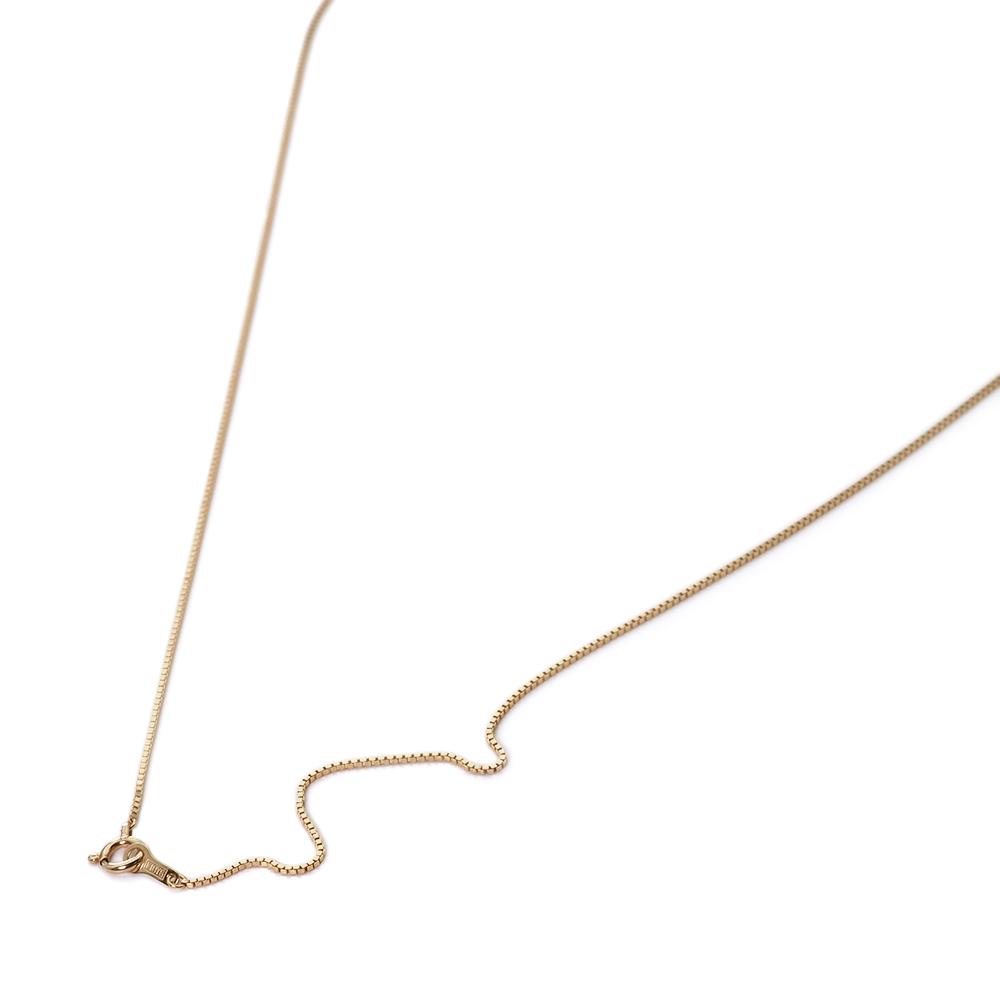 ネックレス チェーン 10金 イエローゴールド ベネチアンチェーン 幅0.75mm 長さ38cm|鎖 K10YG 10k 貴金属 ジュエリー レディース メンズ