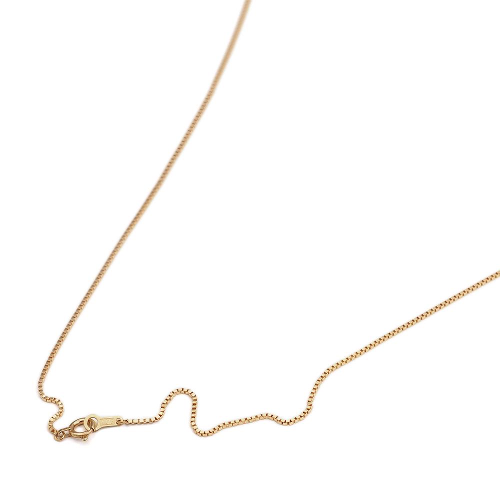 ネックレス チェーン 10金 イエローゴールド ベネチアンチェーン 幅0.85mm 長さ38cm|鎖 K10YG 10k 貴金属 ジュエリー レディース メンズ