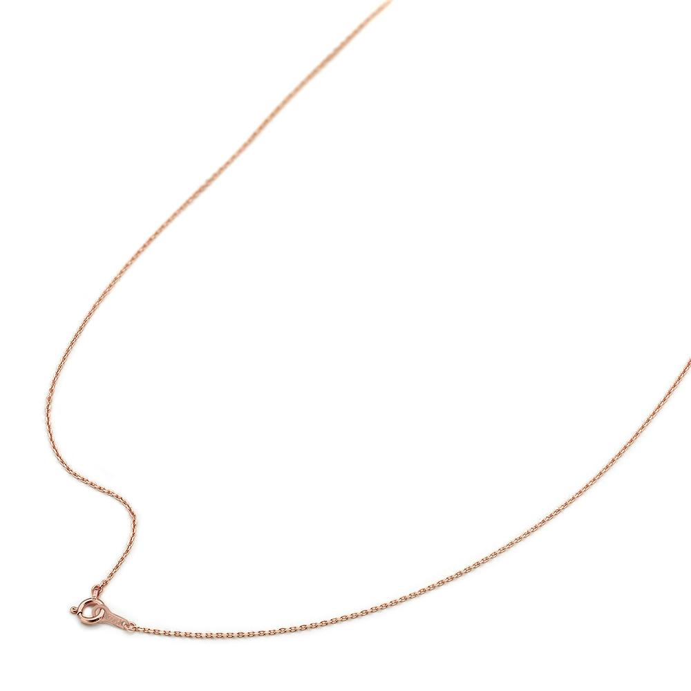 ネックレス チェーン 10金 ピンクゴールド 4面カット小豆チェーン 幅1.0mm 長さ38cm|鎖 K10PG 10k 貴金属 ジュエリー レディース メンズ