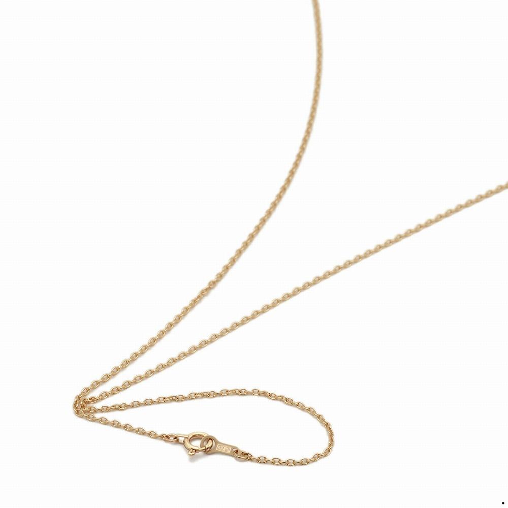 ネックレス チェーン 10金 ピンクゴールド 小豆チェーン 幅1.3mm 長さ38cm|鎖 K10PG 10k 貴金属 ジュエリー レディース メンズ