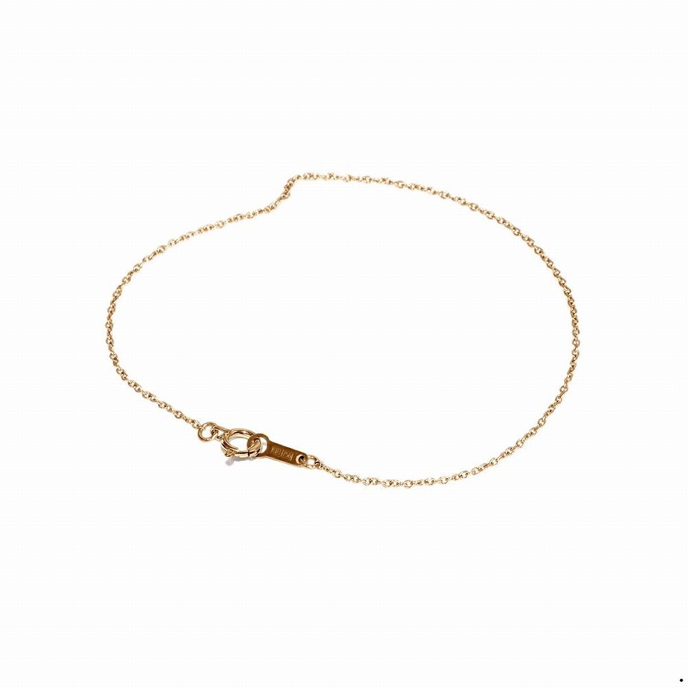 ブレスレット チェーン 18金 ピンクゴールド 小豆チェーン 幅1.2mm 長さ15cm|鎖 K18PG 18k 貴金属 ジュエリー レディース メンズ