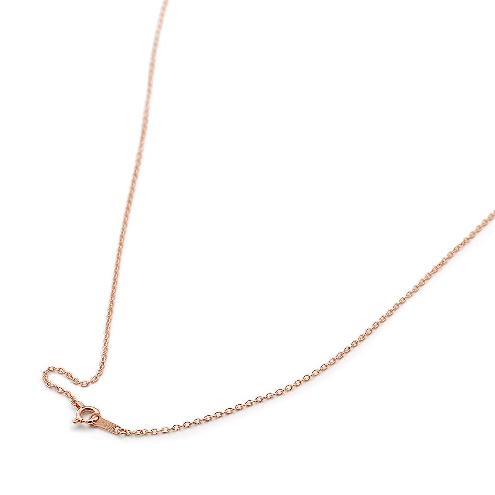 ネックレス チェーン 18金 ピンクゴールド 小豆チェーン 幅1.2mm 長さ38cm|鎖 K18PG 18k 貴金属 ジュエリー レディース メンズ