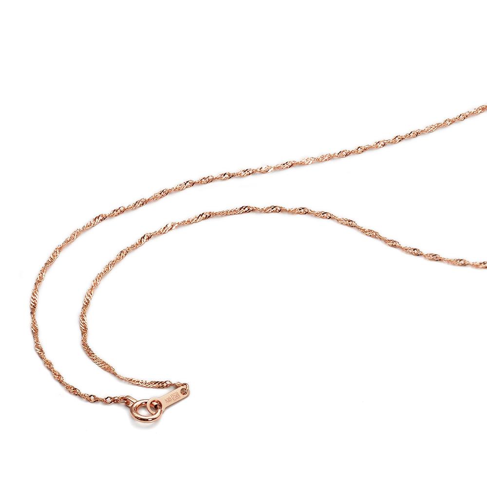 ネックレス チェーン 18金 ピンクゴールド スクリューチェーン 幅1.2mm 長さ38cm|鎖 K18PG 18k 貴金属 ジュエリー レディース メンズ