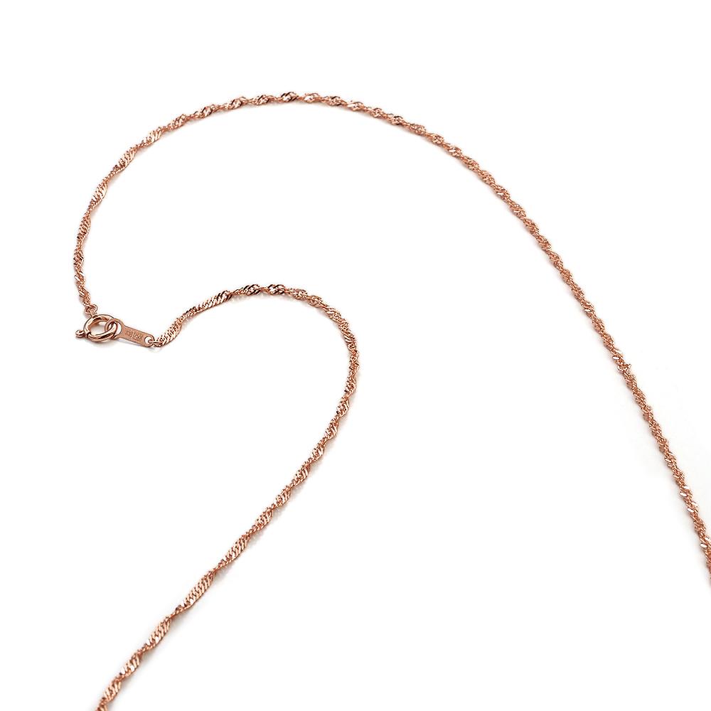 ネックレス チェーン 18金 ピンクゴールド スクリューチェーン 幅1.6mm 長さ38cm|鎖 K18PG 18k 貴金属 ジュエリー レディース メンズ