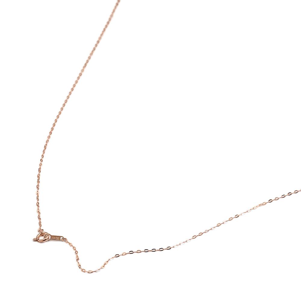 ネックレス チェーン 18金 ピンクゴールド 小判みたいなチェーン 幅1.1mm 長さ38cm|鎖 K18PG 18k 貴金属 ジュエリー レディース メンズ