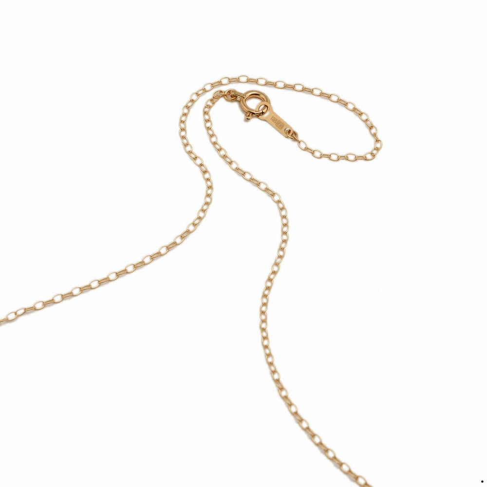 ネックレス チェーン 18金 ピンクゴールド 荒小豆チェーン 幅1.3mm 長さ38cm|鎖 K18PG 18k 貴金属 ジュエリー レディース メンズ