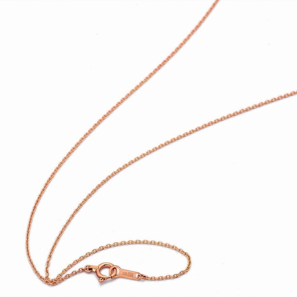 ネックレス チェーン 18金 ピンクゴールド 小豆チェーン 幅1.0mm 長さ38cm|鎖 K18PG 18k 貴金属 ジュエリー レディース メンズ