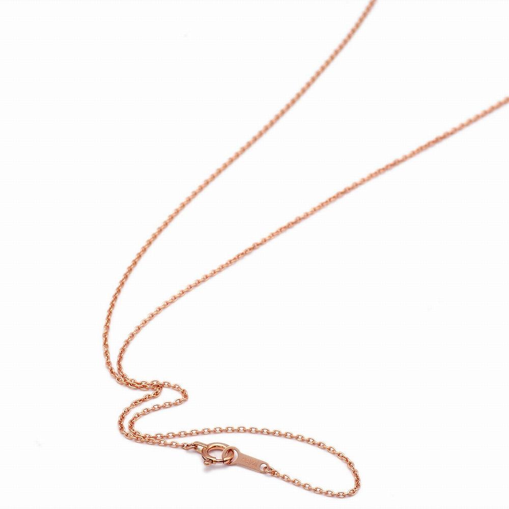 ネックレス チェーン 18金 ピンクゴールド 小豆チェーン 幅1.1mm 長さ38cm|鎖 K18PG 18k 貴金属 ジュエリー レディース メンズ