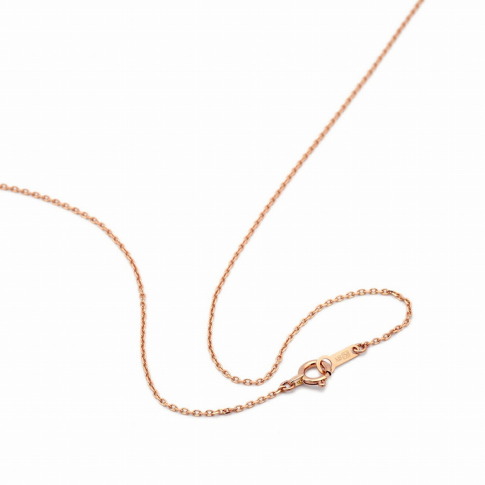 ネックレス チェーン 18金 ピンクゴールド 4面カット小豆チェーン 幅1.1mm 長さ38cm|鎖 K18PG 18k 貴金属 ジュエリー レディース メンズ