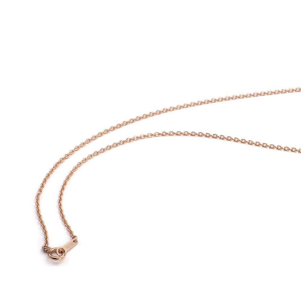 ネックレス チェーン 18金 ピンクゴールド 小豆チェーン 幅1.3mm 長さ38cm|鎖 K18PG 18k 貴金属 ジュエリー レディース メンズ