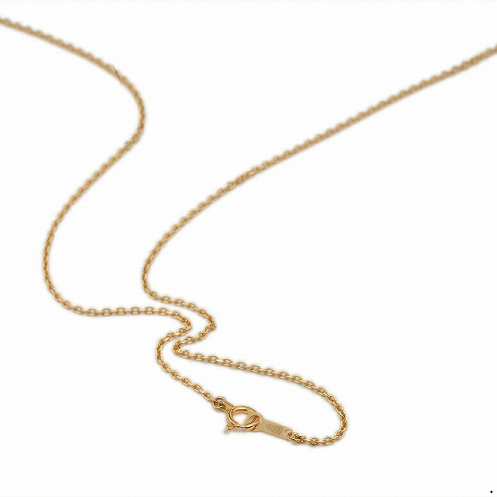 ネックレス チェーン 18金 ピンクゴールド 4面カット小豆チェーン 幅1.2mm 長さ38cm|鎖 K18PG 18k 貴金属 ジュエリー レディース メンズ