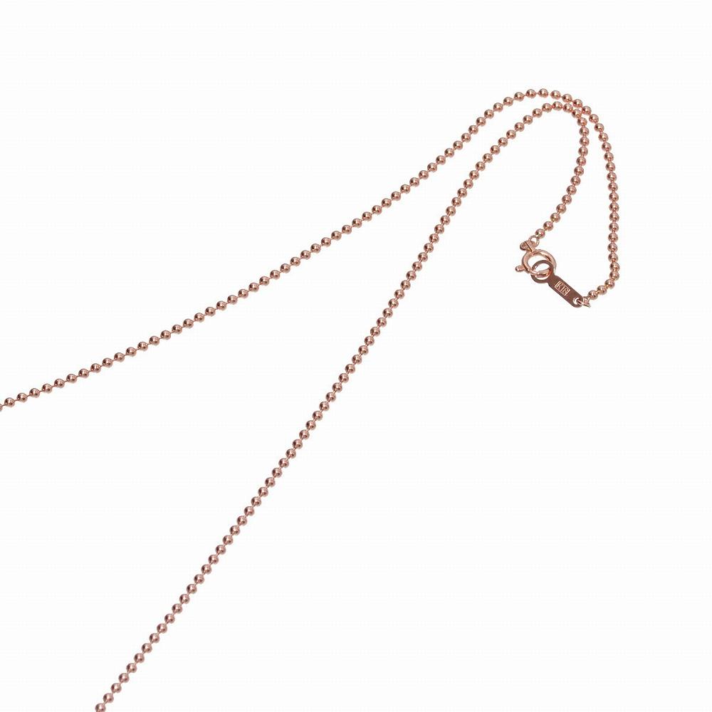 ネックレス チェーン 18金 ピンクゴールド ボールチェーン 幅1.5mm 長さ38cm|鎖 K18PG 18k 貴金属 ジュエリー レディース メンズ